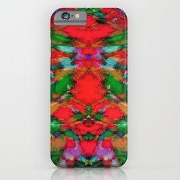 Interlocking ghosts red iPhone Case