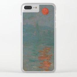 Impression, Sunrise Clear iPhone Case