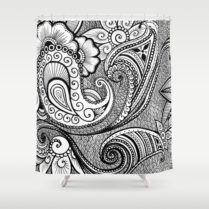 Paisley Design Shower Curtain