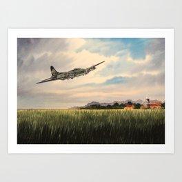 B-17 Flying Fortress Aircraft Art Print