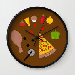 Eats A Pizza Wall Clock
