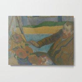 Vincent van Gogh Painting Sunflowers Metal Print