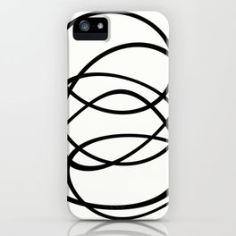 Come Together - Black and white, minimalistic, abstract, art print iPhone Case