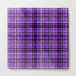 Lunchbox Purple Plaid Metal Print