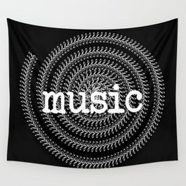Sol keys and music - inverted Wall Tapestry
