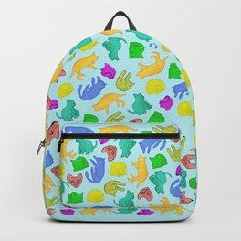 Sleepy Cat // crowd of colorful peaceful cats Backpack