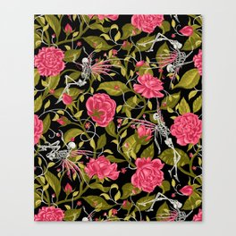 Death of Summer (black and rose) Canvas Print