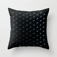 polygon Throw Pillows featuring Polygon by Evi Radauscher