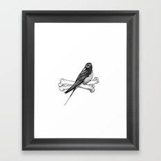 Bird and Bones Framed Art Print