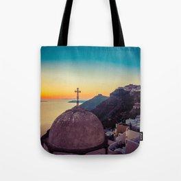 Adorable Santorini Tote Bag