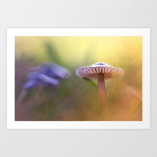 Mystic Mushroom.... Art Print