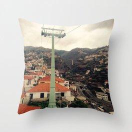 Cable car trip Throw Pillow