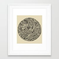 mandala Framed Art Prints featuring Mandala by Marcelo Romero
