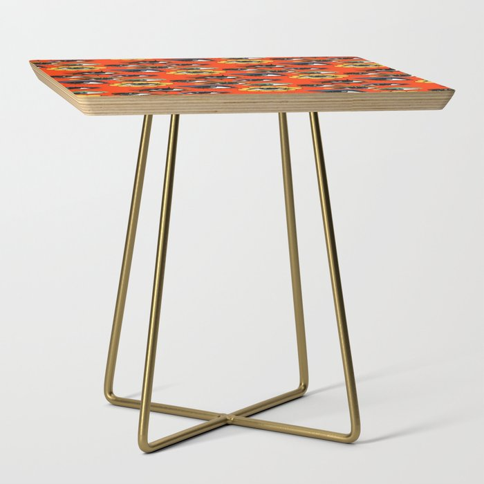 60s Eye Pattern Side Table