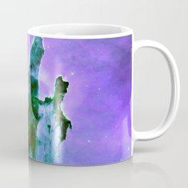 Pillars of Creation Lavender Purple Teal Green Coffee Mug