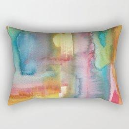 Watercolour Abstract Rectangular Pillow