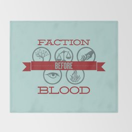 Faction Before Blood Throw Blanket