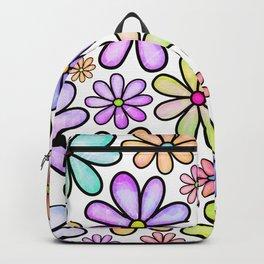 Doodle Daisy Flower v05 Backpack