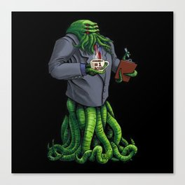 boss-monster tshirt Canvas Print