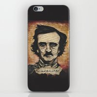 poe iPhone & iPod Skins featuring Poe by Colunga-Art