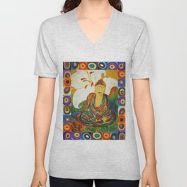 Buddha Circles Unisex V-Neck
