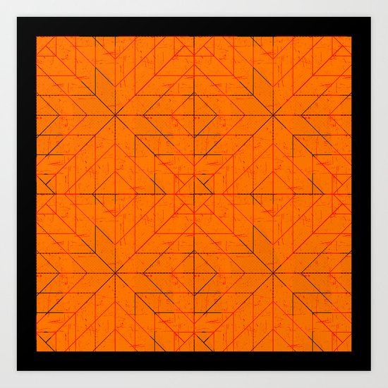 Geometric Lines Art Print
