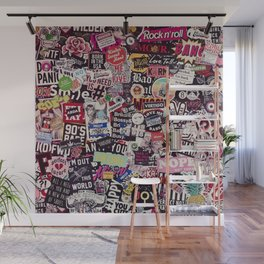 Colorful Sticker Vintage Abstract Pattern Wall Mural