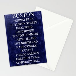 Boston 2 Stationery Cards