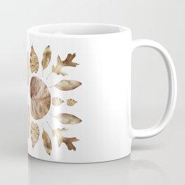 DRIED LEAVES COLLAGE Coffee Mug