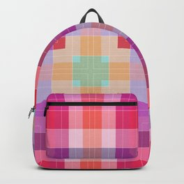 Bright Pink Geometric Backpack