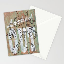 Locked Out? get some more keys cut yeah! Stationery Cards