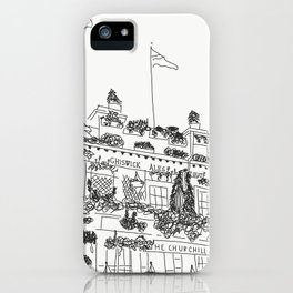 the churchill arms iPhone Case