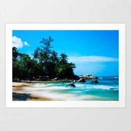 Leam Sing Beach Art Print