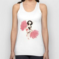 burlesque Tank Tops featuring Burlesque Bombshell by Stasia B