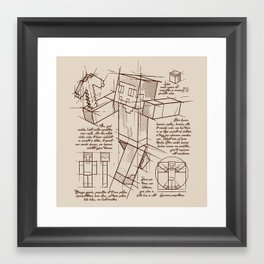 Mine Plan Framed Art Print