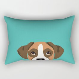 Boxer head dog breed gifts cute pupper Boxers must haves Rectangular Pillow