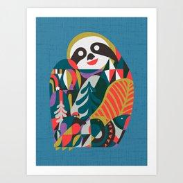 Nordic Sloth Art Print