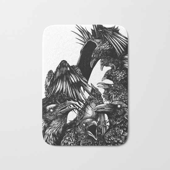 The Riot : Crows Bath Mat
