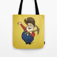 toy story Tote Bags featuring Toy Story | Stinky Pete by Brave Tiger Designs