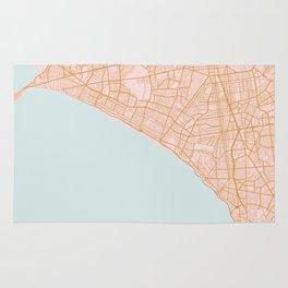 Lima map, Peru Rug