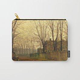 John Atkinson Grimshaw - November Morning - Victorian Vintage Retro Fine Art Carry-All Pouch