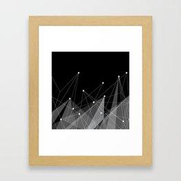 Black fractals Framed Art Print