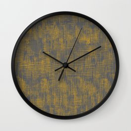 Linen Wash Grey Wall Clock