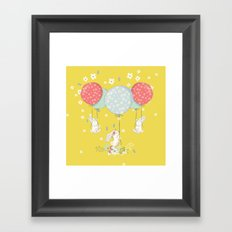flying bunny Framed Art Print