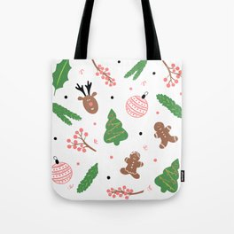 Christmas pattern in pink Tote Bag