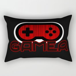 Red Gamer Rectangular Pillow