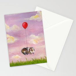 Balloon Ride - Guinea Pig With Balloon Stationery Cards
