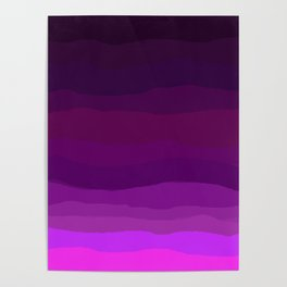 Purple Pink Plum Ombre Poster