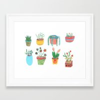 plants Framed Art Prints featuring Plants. by Elga Libano