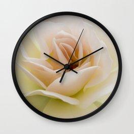 salmon rose I Wall Clock